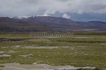 cotacotani lakes in the lauca national