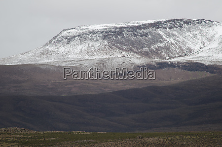 landscape with snowy mountain in lauca