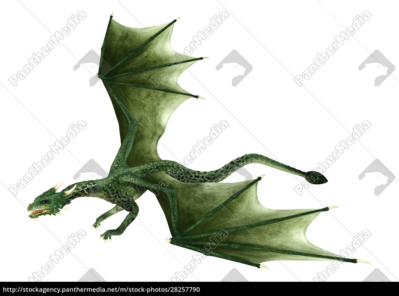3d, rendering, fairy, tale, dragon, on - 28257790