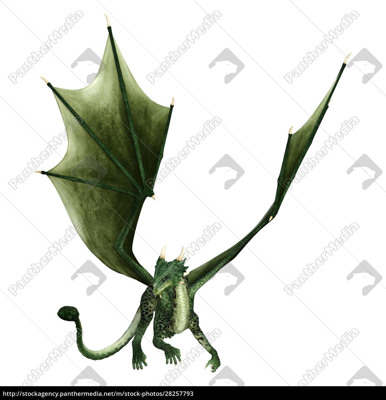 3d, rendering, fairy, tale, dragon, on - 28257793