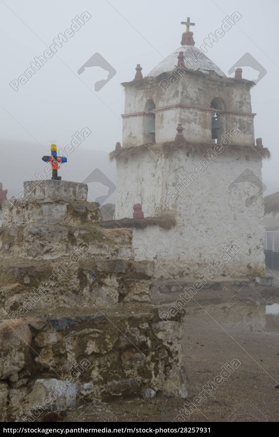 bell, tower, of, the, parinacota, church - 28257931