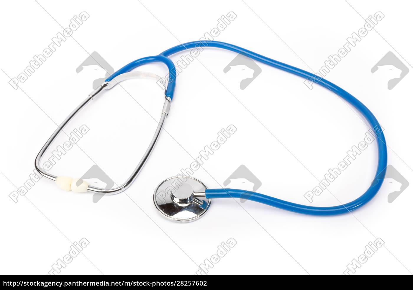 close, up, of, stethoscope, on, white - 28257602