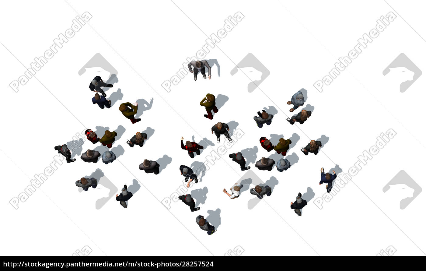 crowd, of, people, standing, together, on - 28257524