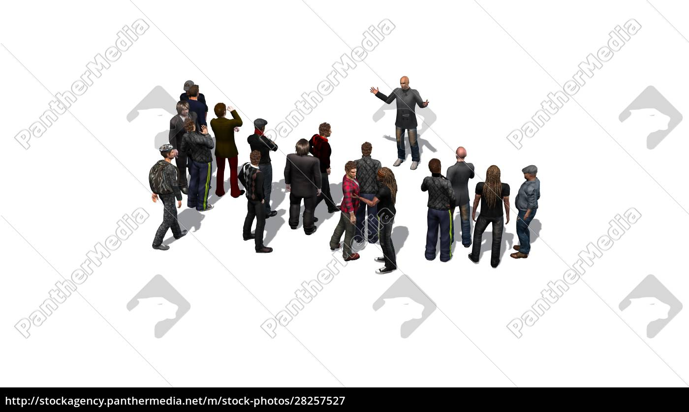 crowd, of, people, standing, together, on - 28257527