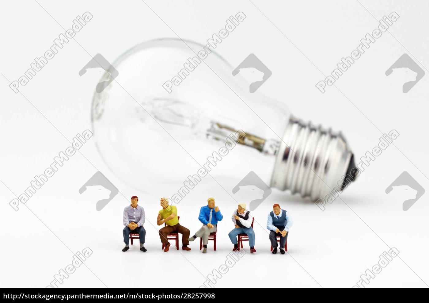 miniature, business, men, sitting, on, chairs - 28257998