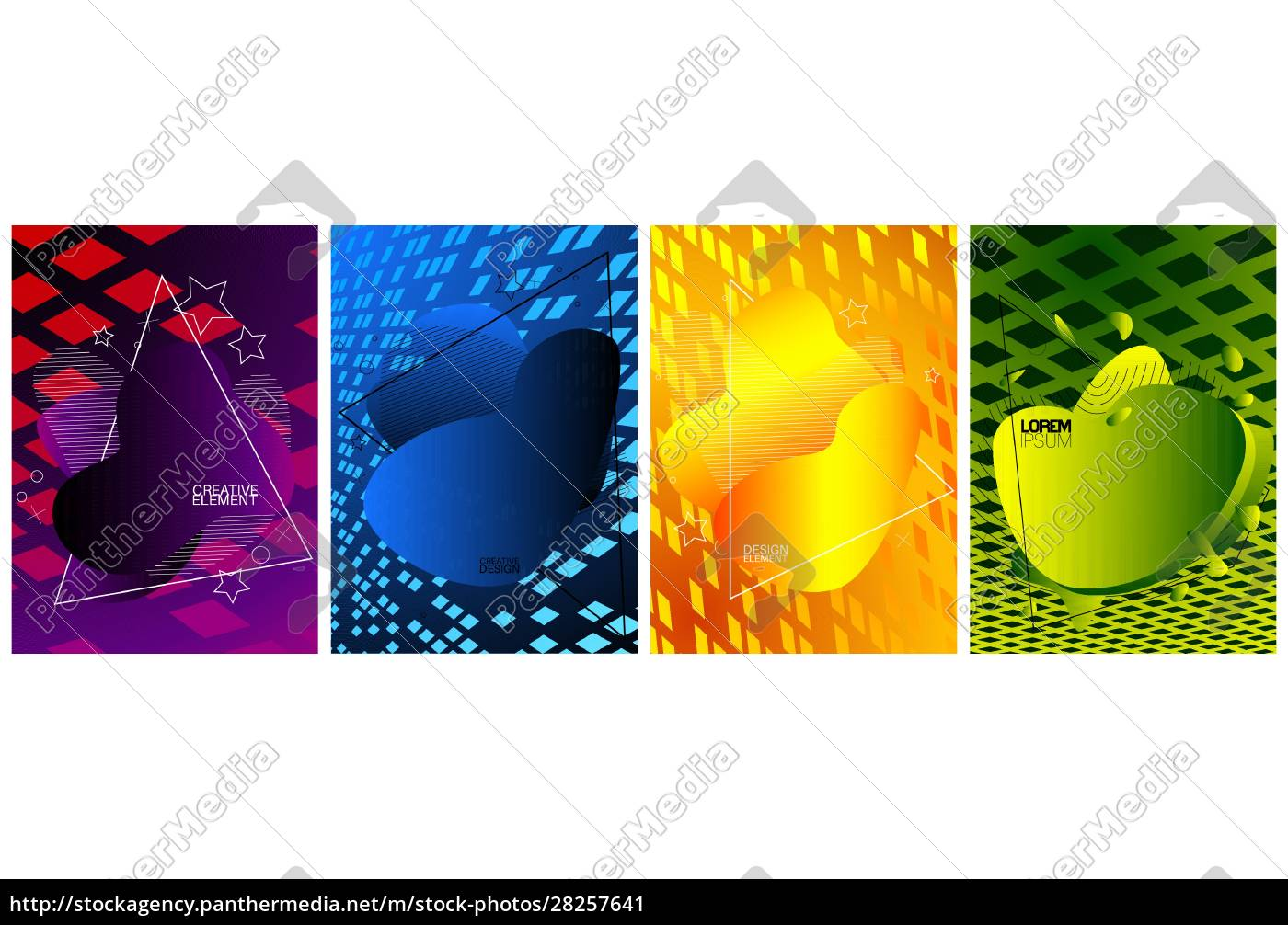 modern, poster, template, set, with, geometric - 28257641