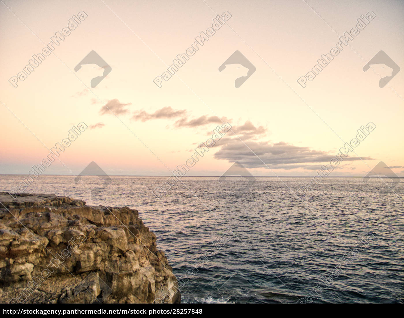 sunset, at, rocky, coast, hdr, light - 28257848