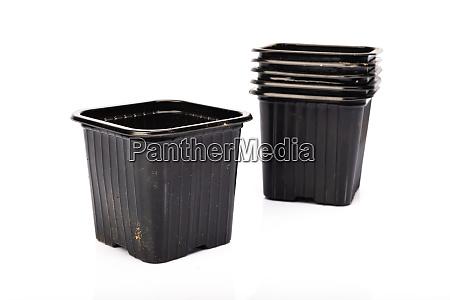 used, black, plastic, gardening, bucket - 28257600