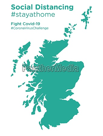 scotland map with social distancing stayathome