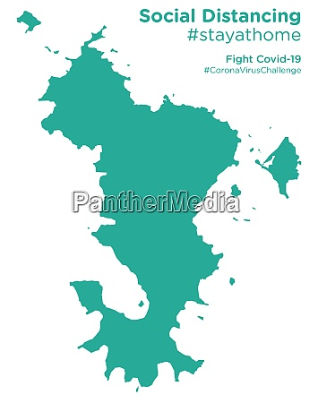 mayotte map with social distancing stayathome