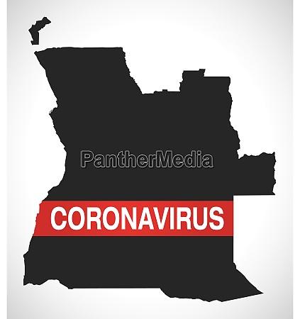 angola, map, with, coronavirus, warning, illustration - 28258986