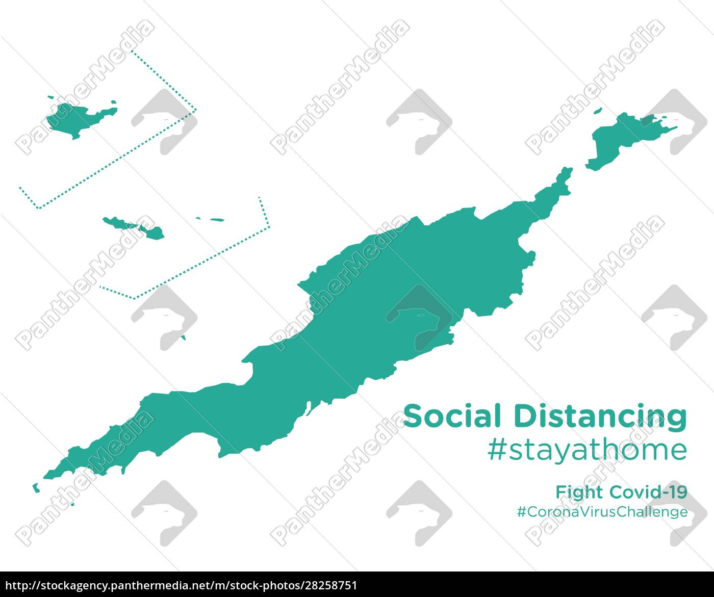 anguilla, map, with, social, distancing, #stayathome - 28258751