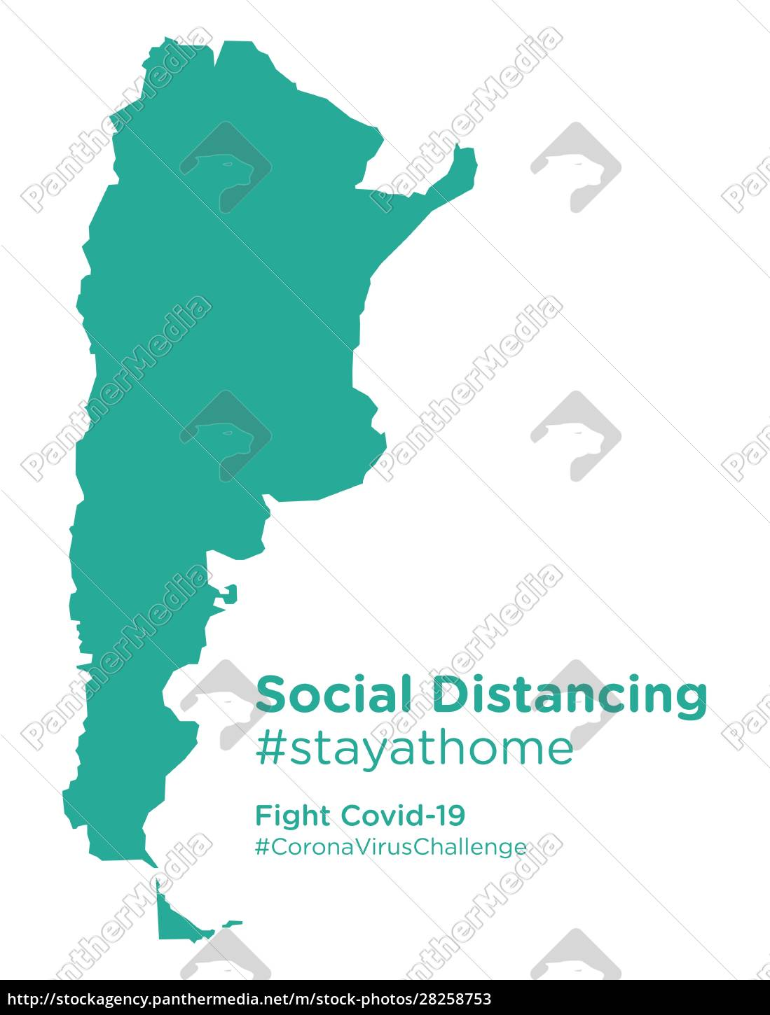 argentina, map, with, social, distancing, #stayathome - 28258753