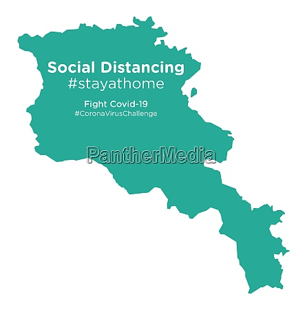 armenia, map, with, social, distancing, #stayathome - 28258761