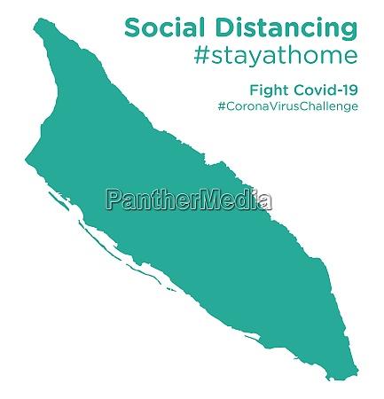 aruba, map, with, social, distancing, #stayathome - 28258653