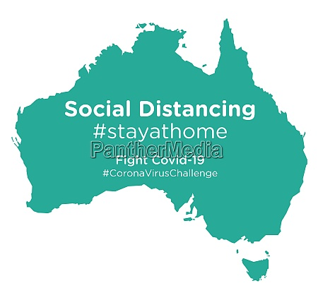australia, map, with, social, distancing, #stayathome - 28258655