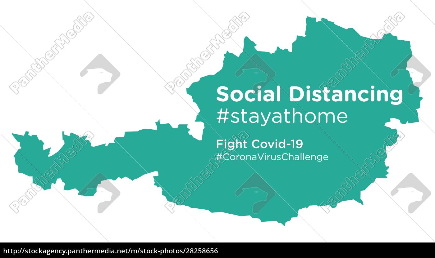 austria, map, with, social, distancing, #stayathome - 28258656