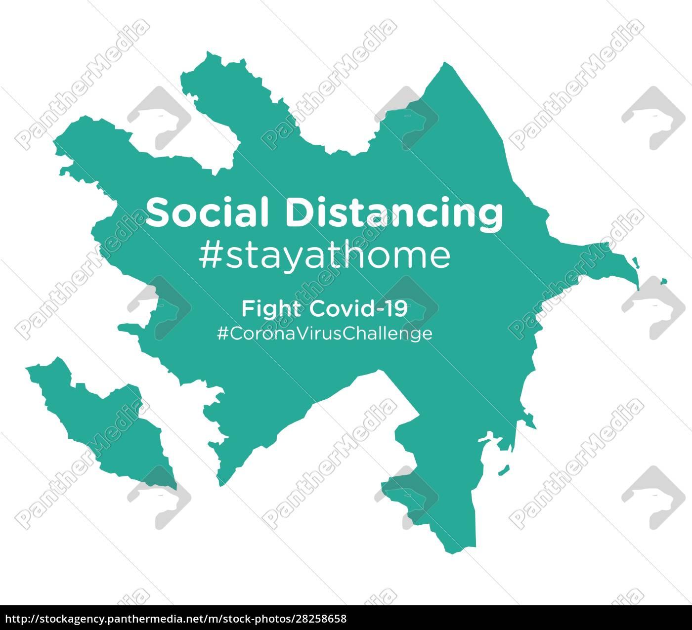 azerbaijan, map, with, social, distancing, #stayathome - 28258658