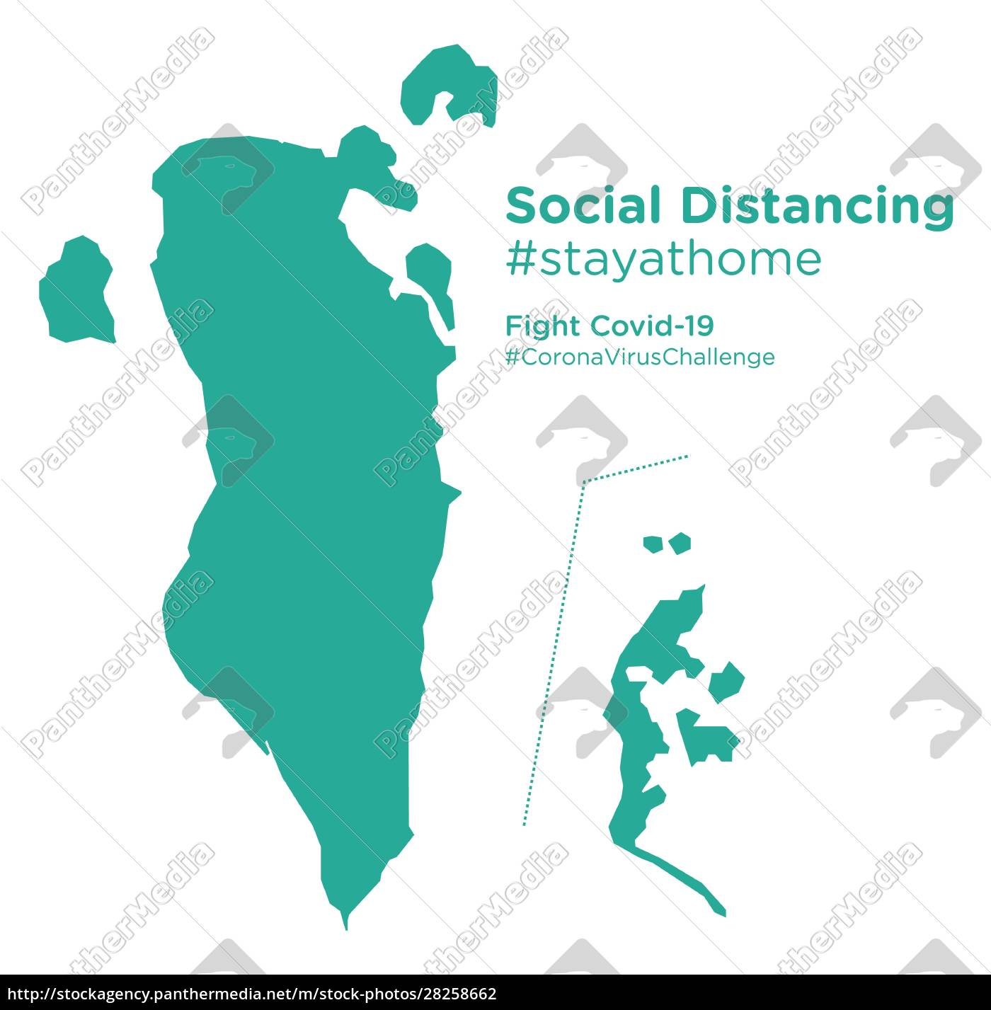 bahrain, map, with, social, distancing, #stayathome - 28258662