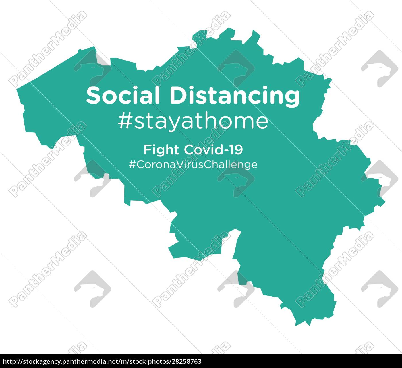 belgium, map, with, social, distancing, #stayathome - 28258763