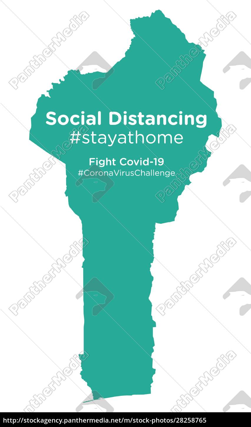 benin, map, with, social, distancing, #stayathome - 28258765