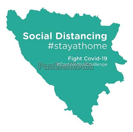 bosnia, herzegovina, map, with, social, distancing - 28258779