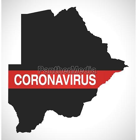 botswana, map, with, coronavirus, warning, illustration - 28258918