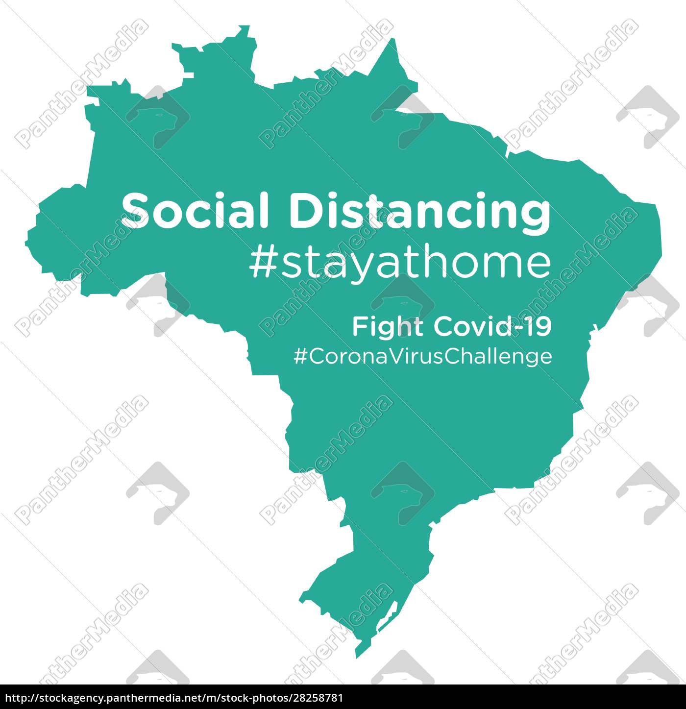 brazil, map, with, social, distancing, #stayathome - 28258781