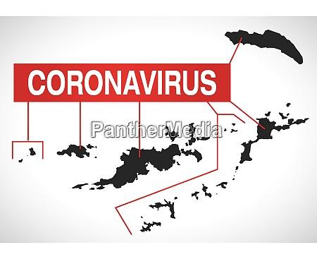 british, virgin, islands, map, with, coronavirus - 28258920
