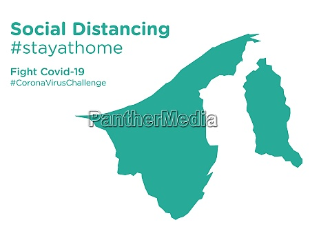 brunei, map, with, social, distancing, #stayathome - 28258672