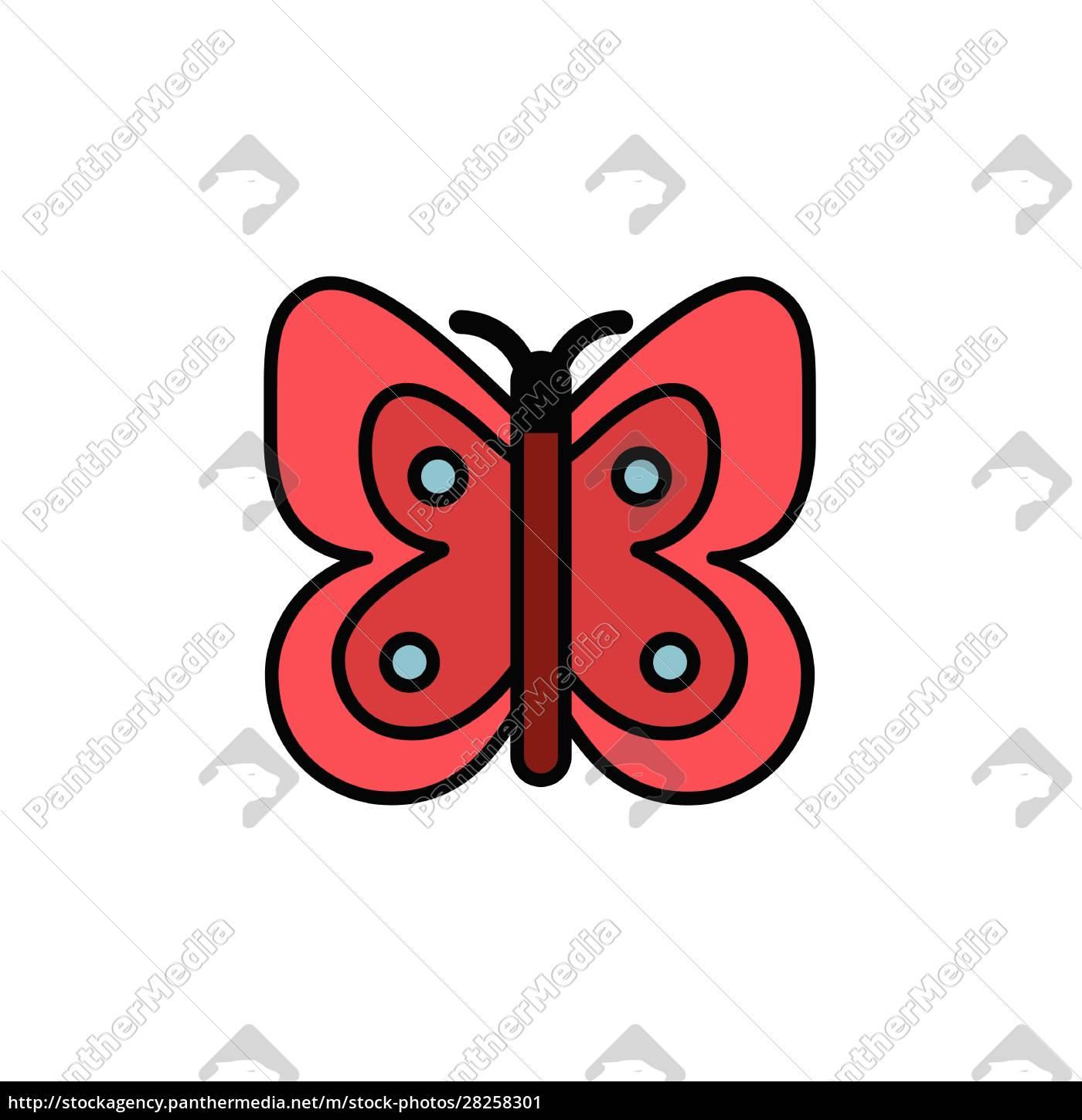 butterfly., filled, color, icon., pharmacy, vector - 28258301