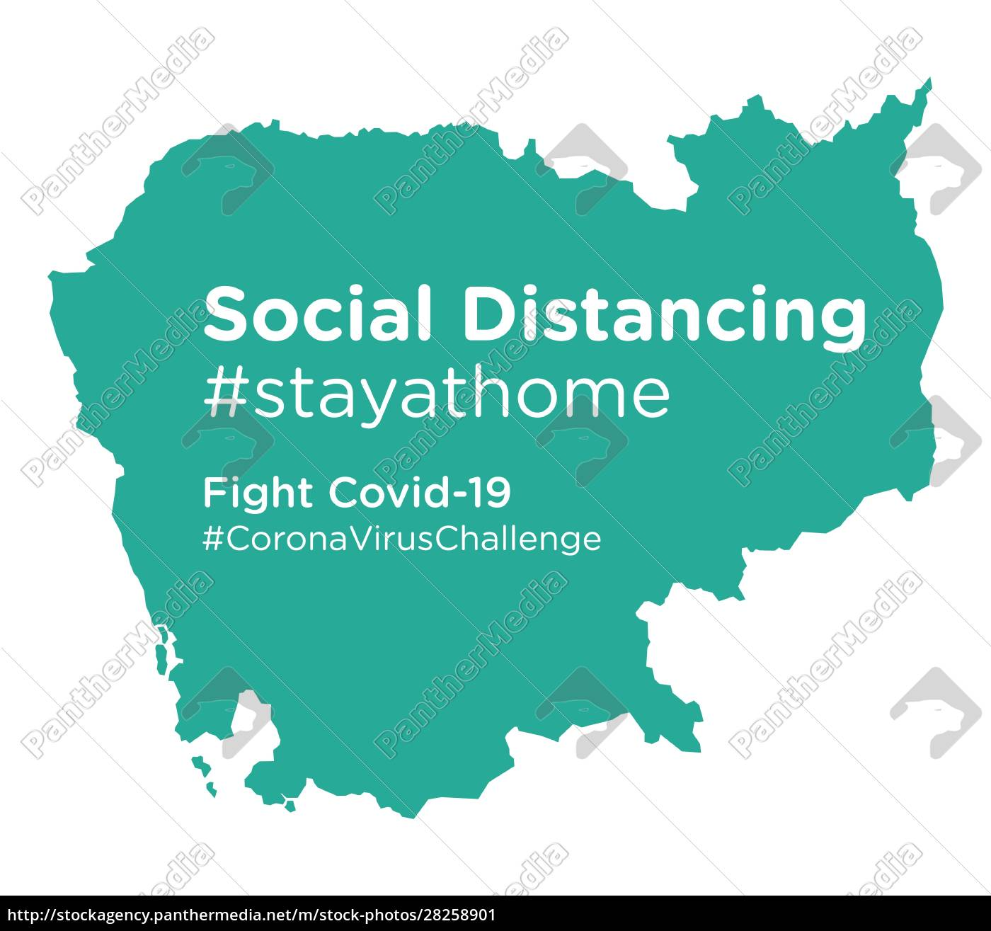 cambodia, map, with, social, distancing, #stayathome - 28258901