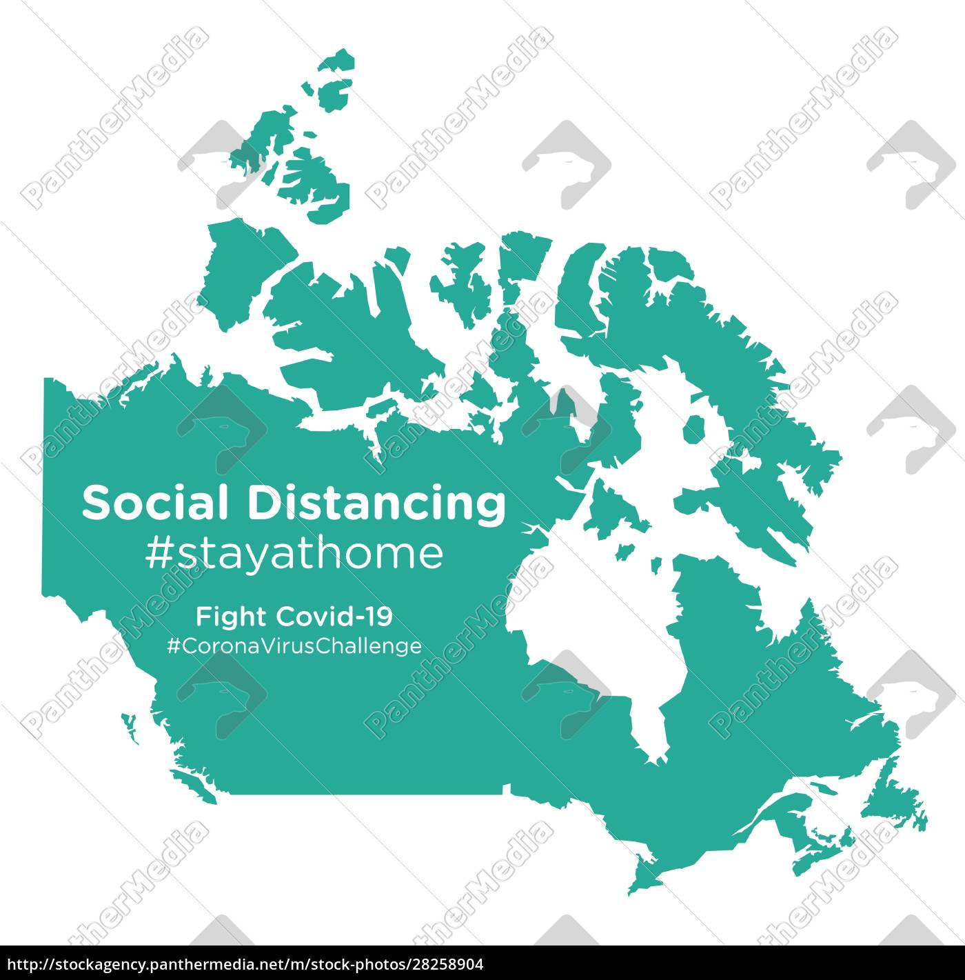 canada, map, with, social, distancing, #stayathome - 28258904