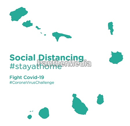 cape, verde, map, with, social, distancing - 28258905