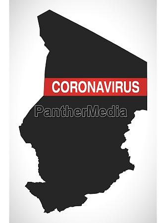 chad, map, with, coronavirus, warning, illustration - 28258925