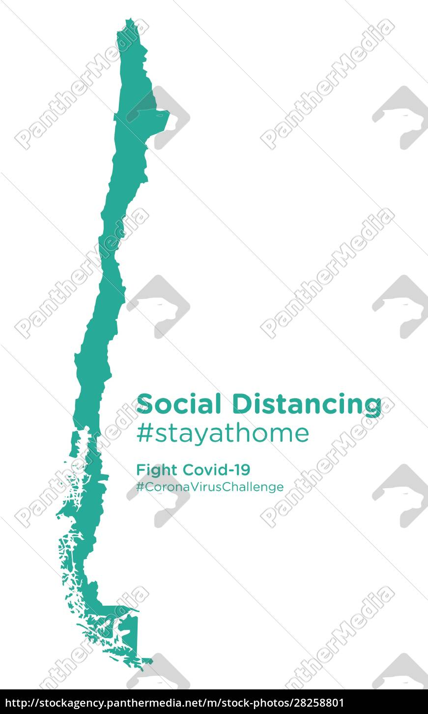 chile, map, with, social, distancing, #stayathome - 28258801