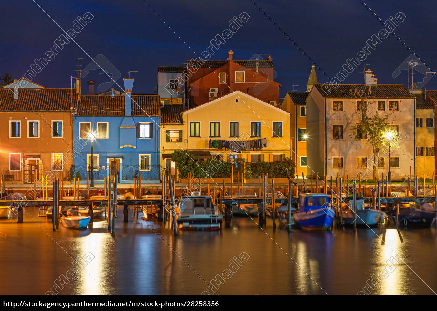 colorful, houses, in, burano, , venice, , at - 28258356
