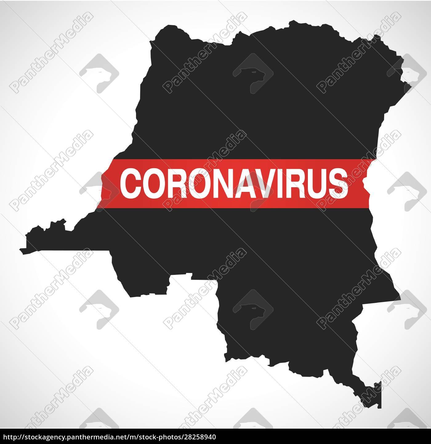 congo, democratic, republic, map, with, coronavirus - 28258940