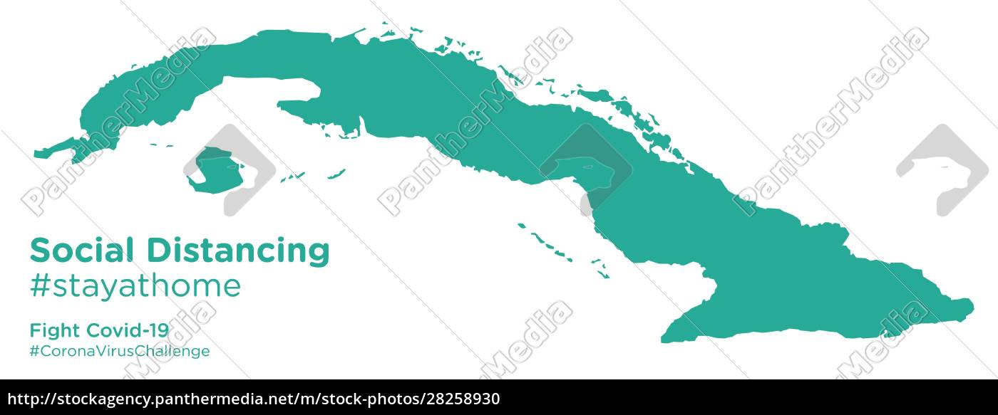 cuba, map, with, social, distancing, #stayathome - 28258930