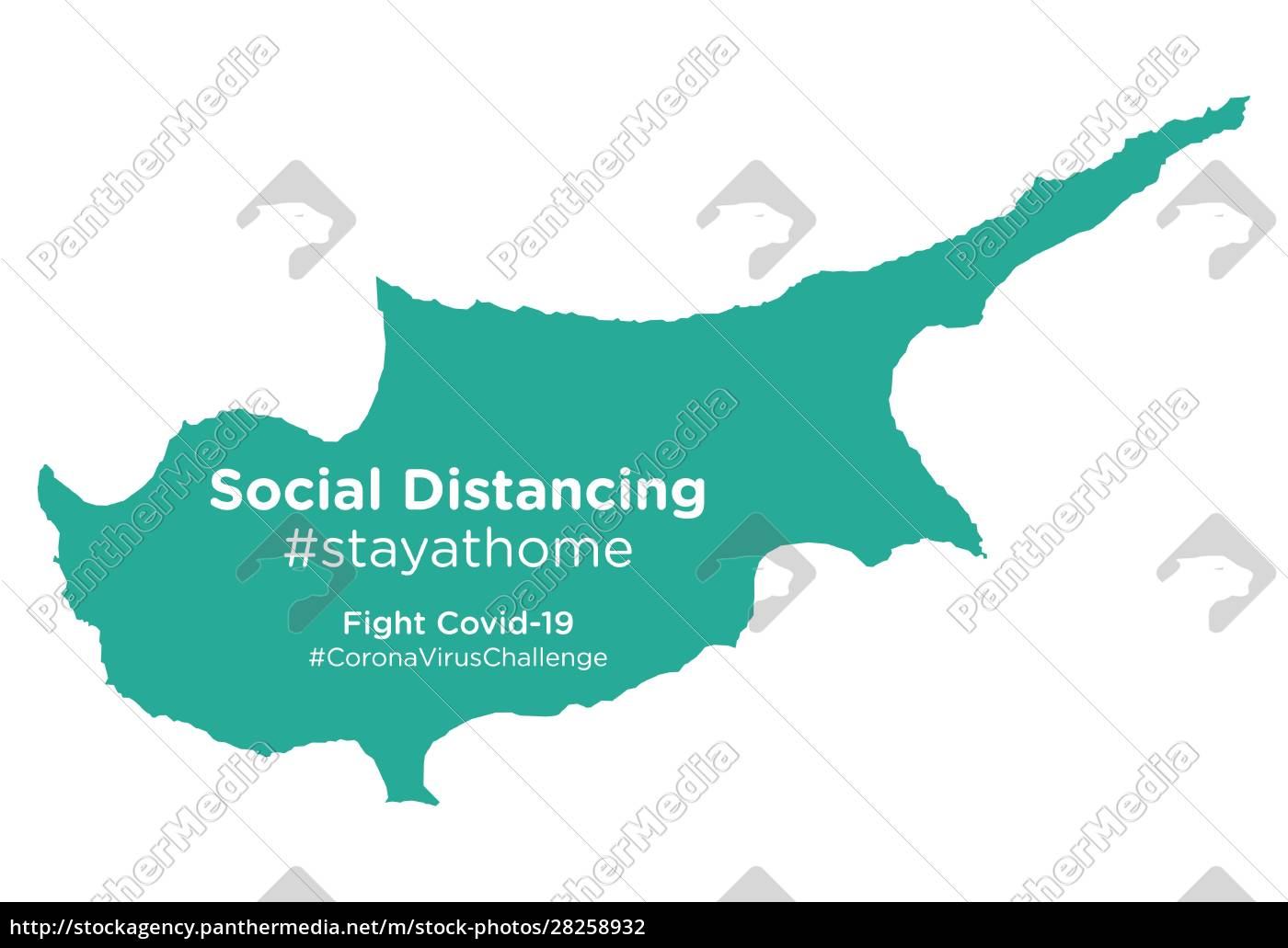 cyprus, map, with, social, distancing, #stayathome - 28258932