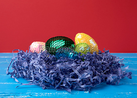 decorative, easter, eggs, from, sequins, lie - 28258522