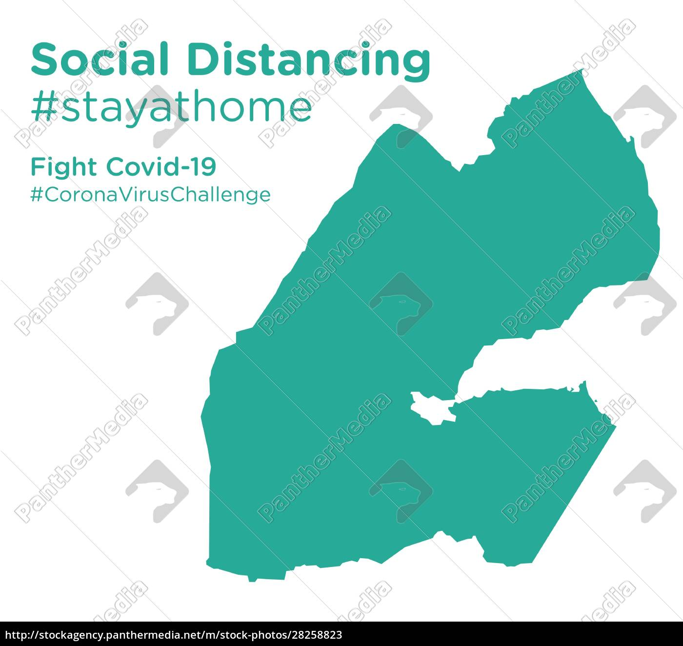 djibouti, map, with, social, distancing, #stayathome - 28258823