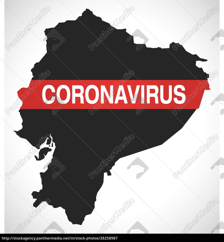 ecuador, map, with, coronavirus, warning, illustration - 28258987