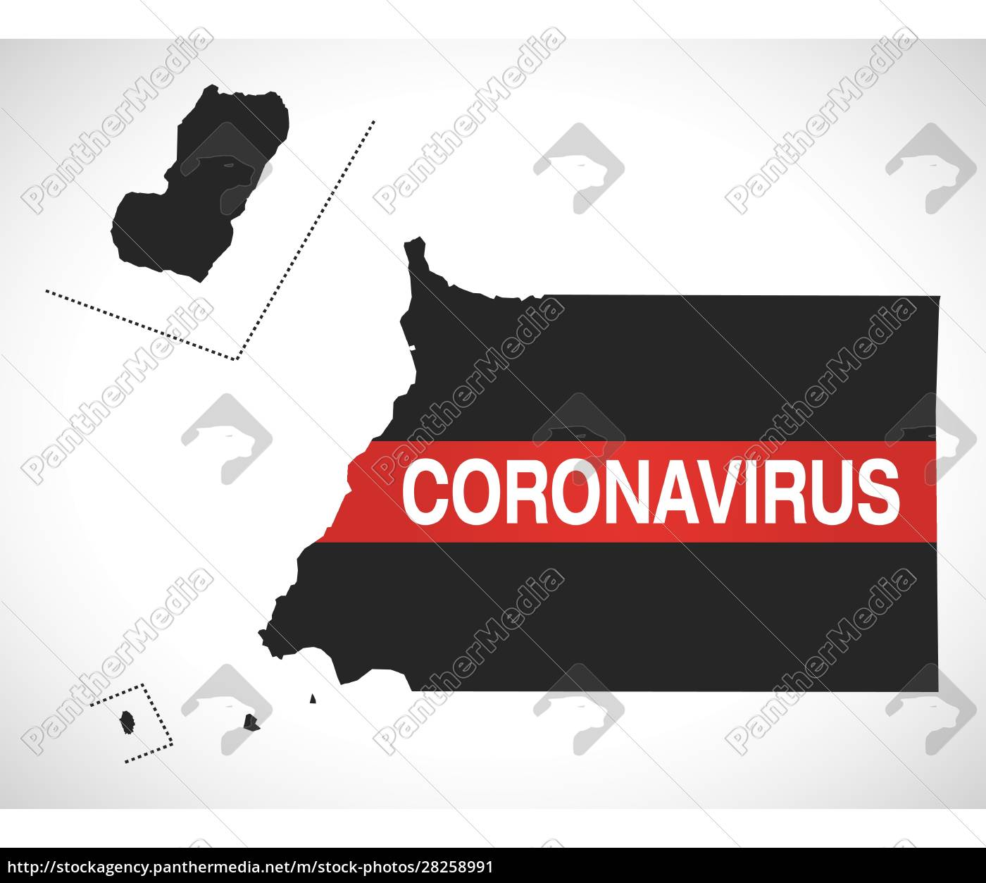 equatorial, guinea, map, with, coronavirus, warning - 28258991
