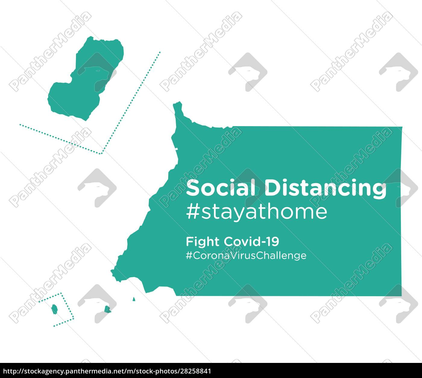 equatorial, guinea, map, with, social, distancing - 28258841