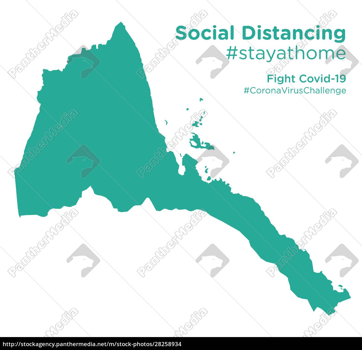 eritrea, map, with, social, distancing, #stayathome - 28258934
