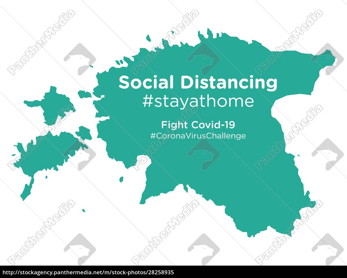 estonia, map, with, social, distancing, #stayathome - 28258935