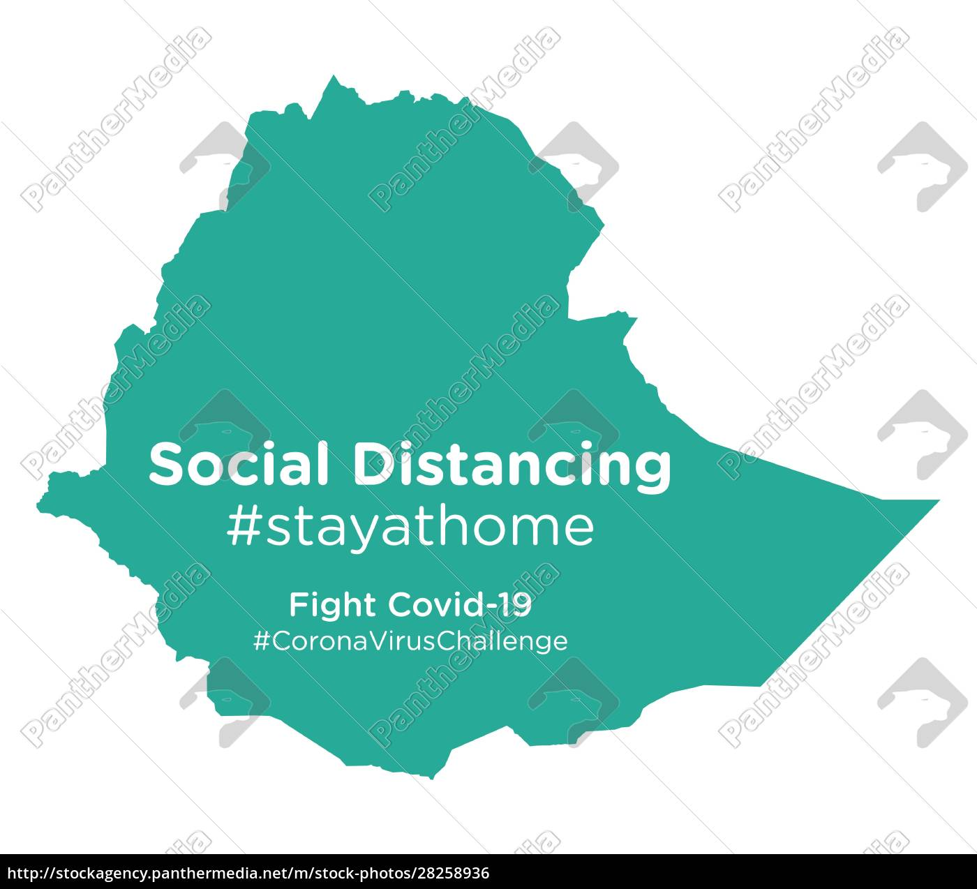 ethiopia, map, with, social, distancing, #stayathome - 28258936