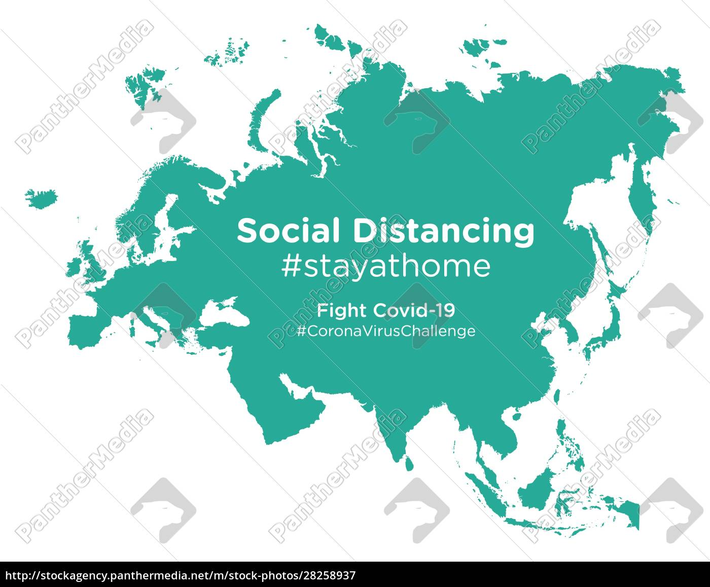 eurasia, map, with, social, distancing, stayathome - 28258937