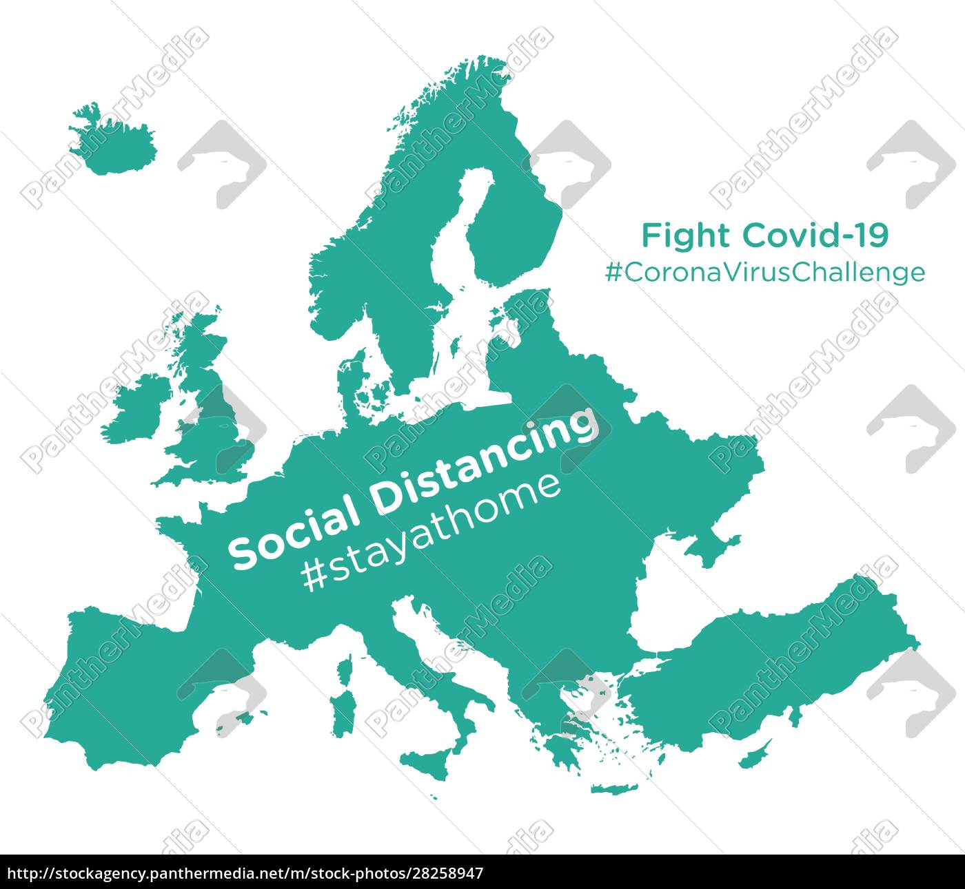 europe, map, with, social, distancing, #stayathome - 28258947